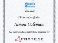 Protege Training- Simon Coleman