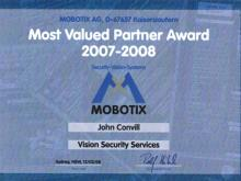 Mobotix Most Valued Partner- 2007-2008
